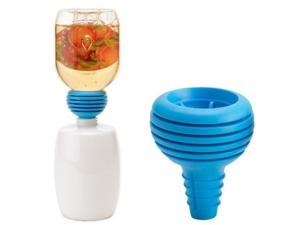 Jokari E-Z Funnel Multi-Purpose, Bottle to Bottle, Dishwasher Safe