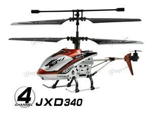 """JXD 340 Mini 4 CH Drift King 8"""" RC Helicopter w/Gyro RTF - Red"""