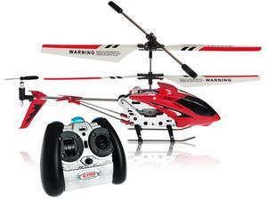 """Syma S107G Mini Metal 8"""" RC Helicopter w/ Gyro - Red"""