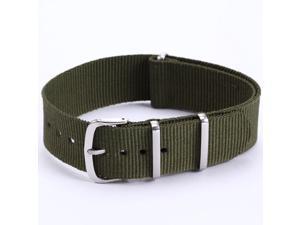 AMPM24 Mens Boy Outdoor Army Green Military Sport Nylon Wrist Watch Strap Band