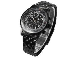Kronen&Söhne KS100 Aviator 6 Hands Date Black Dial Wrist Sport Men's Automatic Mechanical Wrist Watch