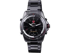 "Shark Men's SH326 ""Winghead shark"" Digital/Analog Quartz Day/Date/Alarm Stainless steel Wrist Watch"