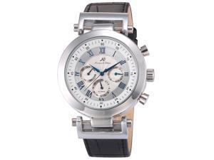 KS Mens KS279 Analog Mechanical Automatic Day/date/24hours Leather Wrist Watch