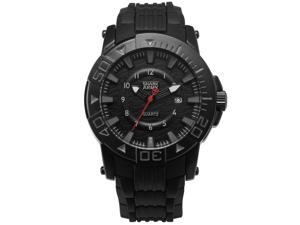 Shark Army Men's Military Quartz Sport Watch Date Display Black Rubber Band SAW210