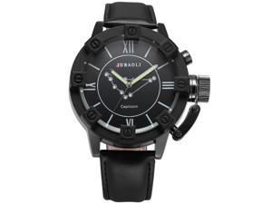 Mens WAA801 Analog Quartz Capricorn Black Leather Wrist Watch