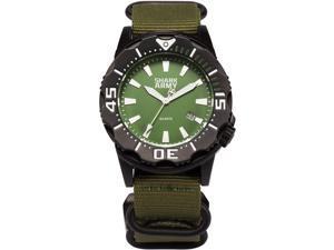 SHARK ARMY Men's SAW192 Analog Japanese Quartz Date/Waterproof Nylon Band Wrist Watch