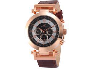 KS Mens KS281 Analog Mechanical Automatic Day/date/24hours Leather Wrist Watch