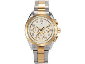 KS Mens KS290 Analog Automatic Mechanical Day/Date/24 hour Dress Steel Wrist Watch
