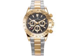 KS Men's KS271 Analog Automatic Mechanical Day/Date/24Hours Steel Band Wrist Watch