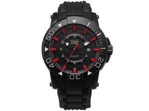 Shark Army Men's Military Quartz Sport Watch Date Display Black Rubber Band SAW211