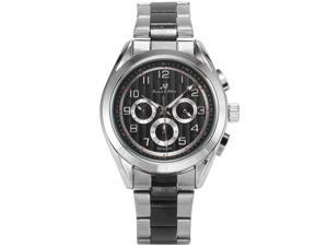KS Mens KS288 Analog Automatic Mechanical Day/Date/24 hour Dress Steel Wrist Watch