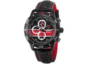 Shark Mens SH330 Quartz Chronograph Day/Date Black Leather Wrist Watch