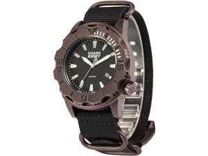 SHARK ARMY Men's SAW191 Analog Japanese Quartz Date/Waterproof Nylon Band Wrist Watch