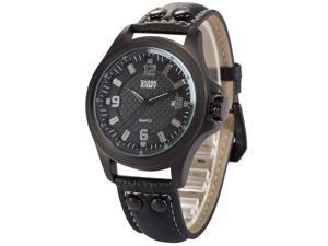 Shark Army Mens SAW141 Military Leather Band Date Display Quartz Watch