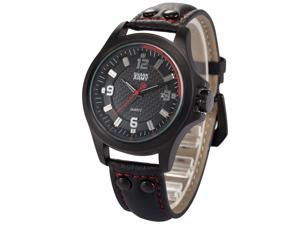 Shark Army Mens SAW144 Military Leather Band Date Display Quartz Watch