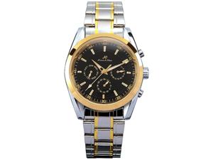 KS Black Analog Date Day Automatic Mechanical Steel Mens Watch + Gift Box