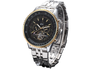KS Automatic Mechanical Tourbillon Date Day Big Case Sport Wrist Watch Gift