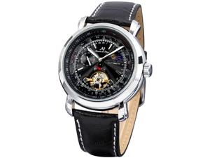 Kronen&Söhne KS068 Luxury Tourbillion Moon Phase Automatic Mechanical Mens Leather Wrist Watch