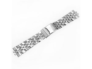 KS Official 24mm Silver Stainless Steel Watch Band/Strap with Pin Watchbands