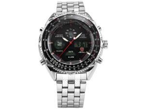 SHARK Luxury LCD Digital Sport Men Army Quartz Alarm Sport Wrist Watch New