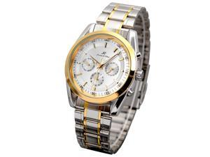 Kronen & Sohne Men's White Dial Automatic Stainless Steel Chronograph Watch