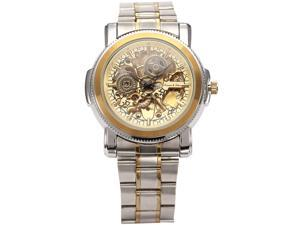 KS Royal Carving Gold Dial Stainless Steel Band Sport Men Automatic Mechanical Watch KS139