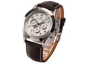 Ks Navigator Series Luxury Automatic Mechanical Day Date 24Hour Mens Wrist Watch KS126 White