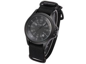 Shark Army Mens Sport Date Display Military Outdoor Black Nylon Strap Wrist Watch SAW087