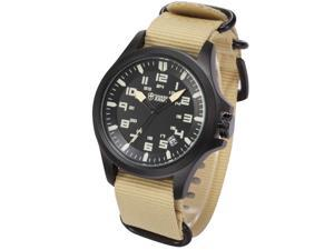 Shark Army Mens Sport Date Display Military Outdoor Khaki Nylon Strap Wrist Watch SAW088