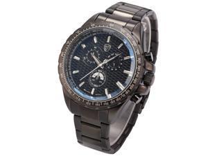 Shark Fashion Mens Chronograph Gunmetal Stainless Steel Japanese Quartz Sport Watch SH188