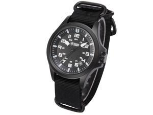 SHARK ARMY Date Display Military Design Black Nylon Mens Sport Outdoor Wrist Watch SAW083