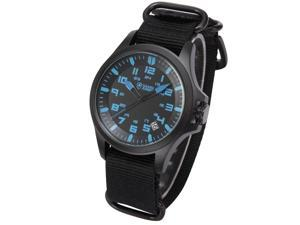 Shark Army Mens Sport Outdoor Wrist Watch Date Display Military Black Nylon Strap SAW084