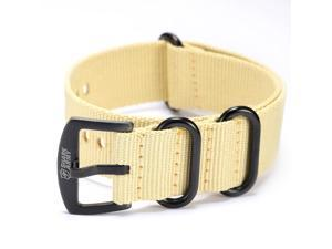 Shark Army Khaki Nylon Sport Military Ourdoor Watchband Watch Strap Band WTL066