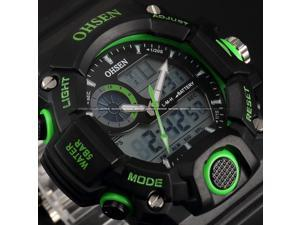 Timebear LCD Mens Dual Core Digital Backlight Date Analog Waterproof Sport Watch OHS220