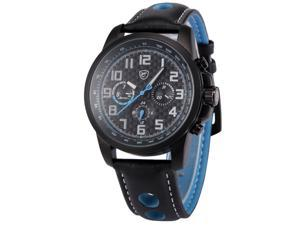 Shark Saw Shark series Mens Analog Date Day Sport Quartz Leather Band Wrist Watch SH185