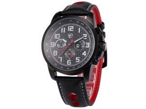 Shark Saw Shark series Mens Analog Date Day Sport Quartz Leather Band Wrist Watch SH186