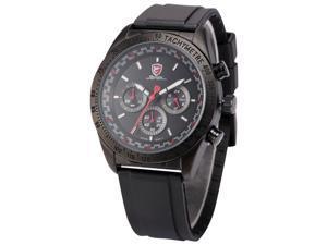 Shark Swell Shark Series Mens Analog Date Day Black Rubber Band Quartz Wrist Watch SH271