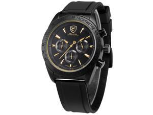 Shark SH236 Mens Quartz Watch Analog Chronograph Black Rubber Band Sport