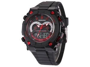 Timebear LED177 Mens Quartz Watch Digital Analog Date Day Display Rubber Band