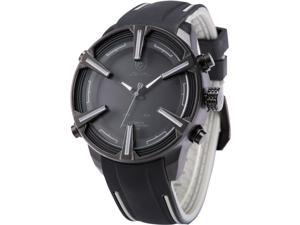 Shark - SH388 Mens Quartz Watch, Simple,  Black Dial, Day and Date,  Alarm, Silicone Band