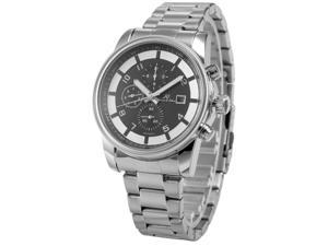 KS Mens KS181 Analog Silver Steel Band Day Date Month Display Automatic Mechanical Watch