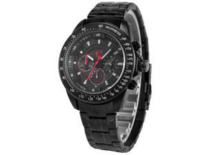 Shark Mens SH276 Analog Black Stainless Steel Band Chronograph 24H Display Quartz Watch
