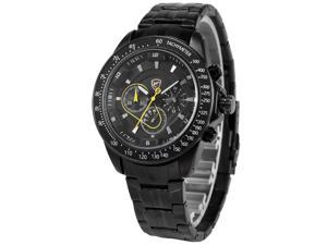 Shark Mens SH277 Analog Black Stainless Steel Band Chronograph 24H Display Quartz Watch