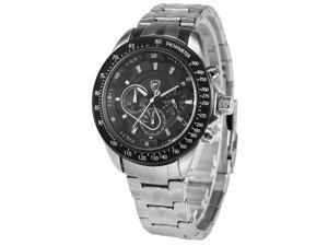 Shark Mens SH278 Analog Black Stainless Steel Band Chronograph 24H Display Quartz Watch