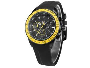Shark Mens SH281 Analog Black Silicon Band Chronograph 24H Display Quartz Watch