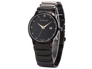 Taylor Cole Ladies' TC022 Date Display Stainless Steel Band Simple Quartz Watch
