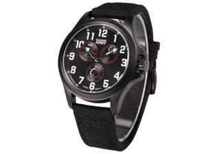 Shark Army Mens Quartz 6 Hands Sport Black Nylon Band Wrist Watch SWA131