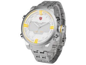 Shark SH201 Mens Sport Watch Dual Movement Date Day Quartz Stainless Steel Band