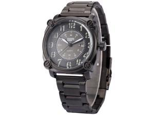Shark Army SAW139 Military Mens Quartz Watch Analog Date Display Black Steel Band