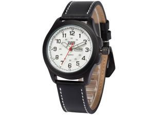 Shark Army Mens SAW121 Military design Date Display Leather Band Quartz Watch